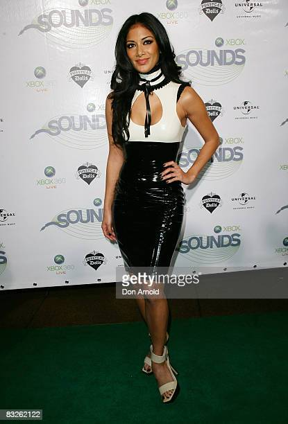 Nicole Scherzinger of the Pussycat Dolls arrives at the Xbox Sounds event at Sydney Opera House on October 14 2008 in Sydney Australia The event is...
