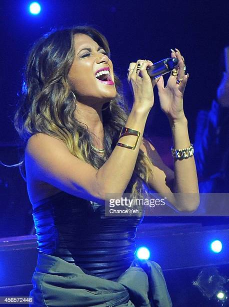 Nicole Scherzinger performs at Brandon Voss Presents Marquee Thursdays With Nicole Scherzinger at Marquee Club on October 2 2014 in New York City