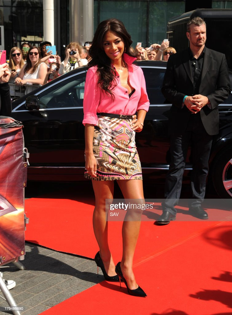 <a gi-track='captionPersonalityLinkClicked' href=/galleries/search?phrase=Nicole+Scherzinger&family=editorial&specificpeople=678971 ng-click='$event.stopPropagation()'>Nicole Scherzinger</a> pictured arriving at Wembley Arena for the X Factor auditions on July 15, 2013 in London, England.
