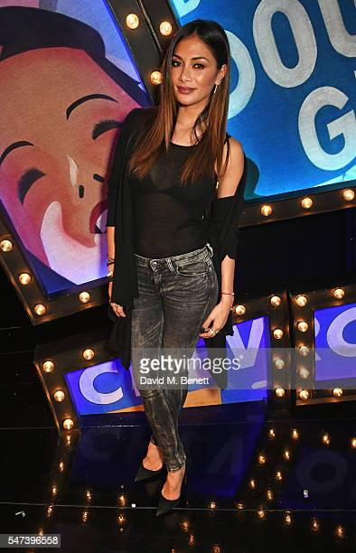 Nicole Scherzinger poses backstage following Rebel Wilson's press night performance as Miss Adelaide in the acclaimed West End production of 'Guys...