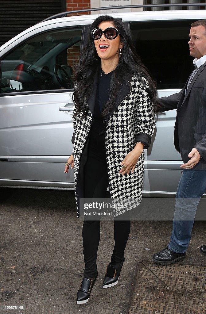 Nicole Scherzinger seen at KISS FM on January 22, 2013 in London, England.