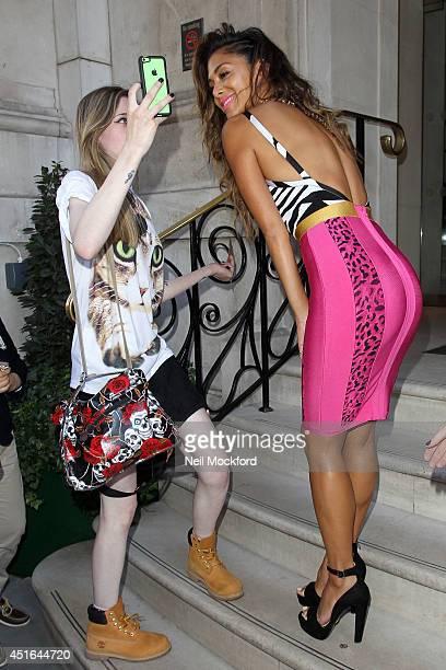 Nicole Scherzinger seen leaving The Langham Hotel on July 3 2014 in London England