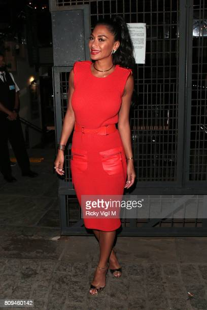 Nicole Scherzinger seen leaving The X Factor London auditions on July 5 2017 in London England
