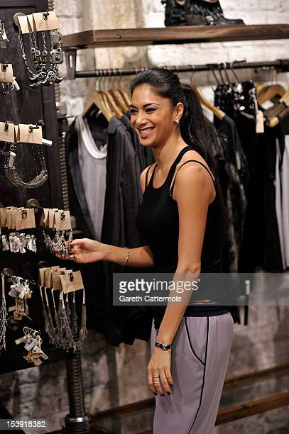 Nicole Scherzinger shops at the All Saints store in Westbourne Park on October 11 2012 in London England