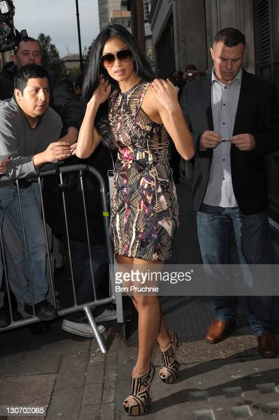 Nicole Scherzinger sighted in London on October 28 2011 in London England