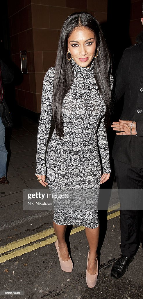 Nicole Scherzinger sighting on November 18, 2012 in London, England.