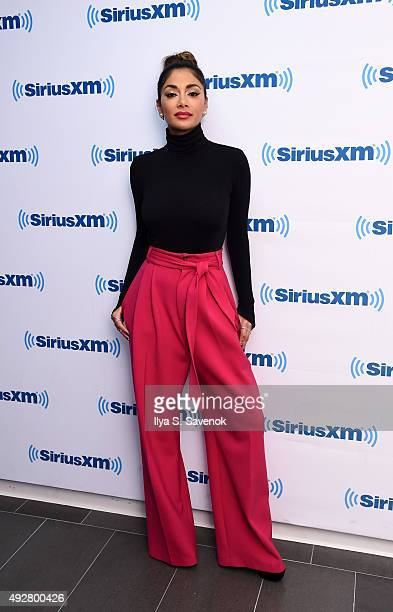 Nicole Scherzinger visits the SiriusXM Studios on October 15 2015 in New York City