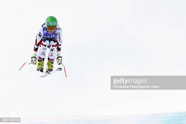Nicole Schmidhofer of Austria competes during the Audi FIS Alpine Ski World Cup Women's Downhill on January 09 2016 in AltenmarktZauchensee Austria