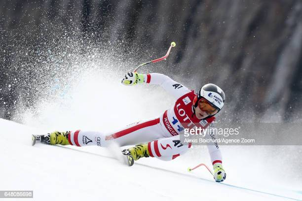 Nicole Schmidhofer of Austria competes during the Audi FIS Alpine Ski World Cup Women's SuperG on March 05 2017 in Jeongseon South Korea