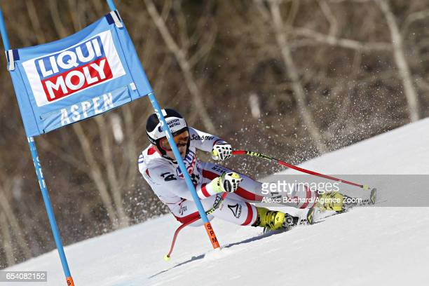 Nicole Schmidhofer of Austria competes during the Audi FIS Alpine Ski World Cup Finals Women's and Men's SuperG on March 16 2017 in Aspen Colorado