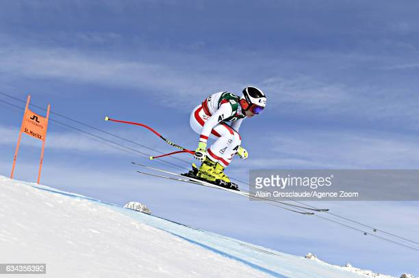 Nicole Schmidhofer of Austria competes during the FIS Alpine Ski World Championships Men's and Women's Downhill Training on February 09 2017 in St...