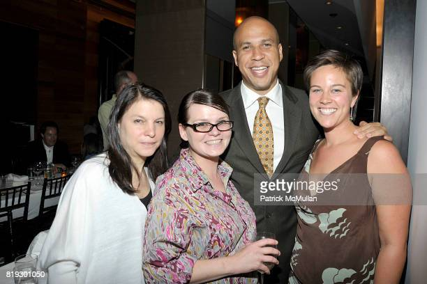 NIcole Seligman Anita Serwacki Cory Booker and Bristol Baughan attend Screening and Dinner of MARSHALL CURRY's Documentary RACING DREAMS at Core Club...
