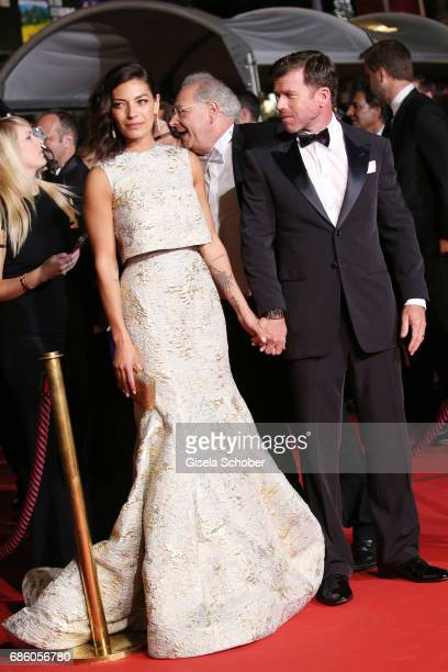 Nicole Sheridan and Director Taylor Sheridan attend the 'The Square' screening during the 70th annual Cannes Film Festival at Palais des Festivals on...