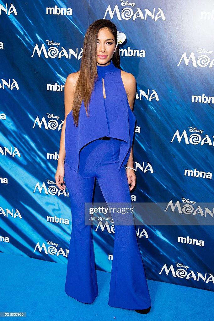 Nicole Sherzinger attends the UK Gala screening of 'MOANA' at BAFTA on November 20, 2016 in London, England.