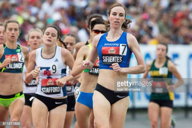 Nicole Sifuentes in the 1500m semifinals at the Canadian Track and Field Championships on 8 July 2017 at the Terry Fox Athletic Facility in Ottawa...