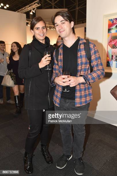 Nicole Smith and Daniel Timmons attend the IFPDA Fine Art Print Fair Opening Preview at The Jacob K Javits Convention Center on October 25 2017 in...