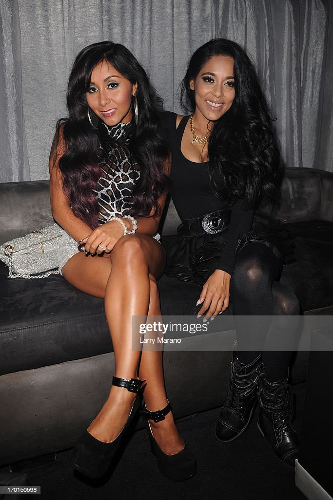 Nicole 'Snooki' Polizzi and Adela arrive at Seminole Hard Rock Hotel & Casino ? Hard Rock Cafe Hollywood on June 7, 2013 in Hollywood, Florida.