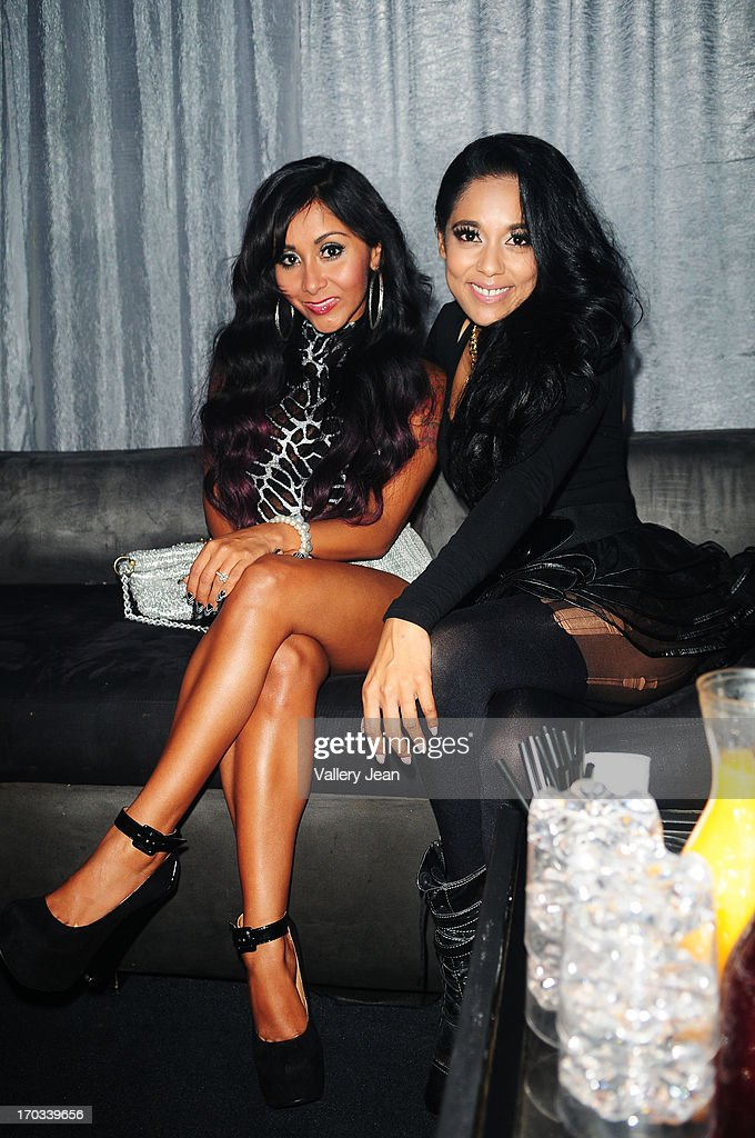 Nicole 'Snooki' Polizzi and Adela arrive at Seminole Hard Rock Hotel & Casino - Hard Rock Cafe Hollywood on June 7, 2013 in Hollywood, Florida.