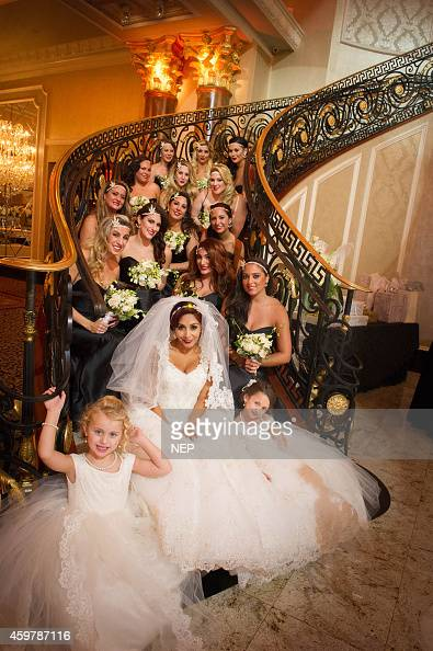 Nicole 'Snooki' Polizzi and bridal party are seen during the wedding of Nicole 'Snooki'Polissi and Jionni Lavalle at Venetian on November 29 2014 in...