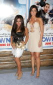 Nicole 'Snooki' Polizzi and Jenni 'JWoww' Farley attends the premiere of 'Grown Ups' at the Ziegfeld Theatre on June 23 2010 in New York City