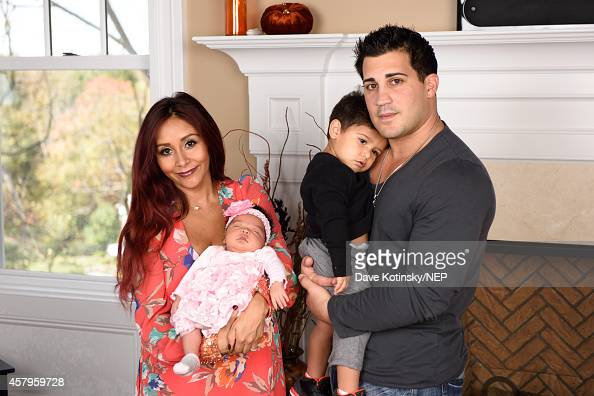 Nicole 'Snooki' Polizzi and Jionni LaValle along with their son Lorenzo LaValle debut their new daughter Giovanna Marie LaValle on October 24 2014 in...