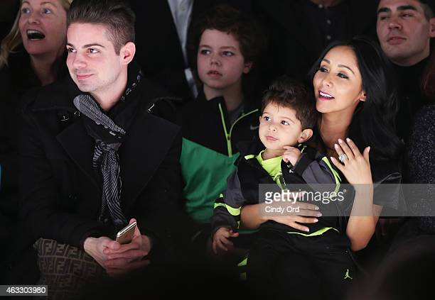 Nicole 'Snooki' Polizzi and son Lorenzo LaValle attend the Nike Levi's Kids fashion show during MercedesBenz Fashion Week Fall 2015 at The Salon at...