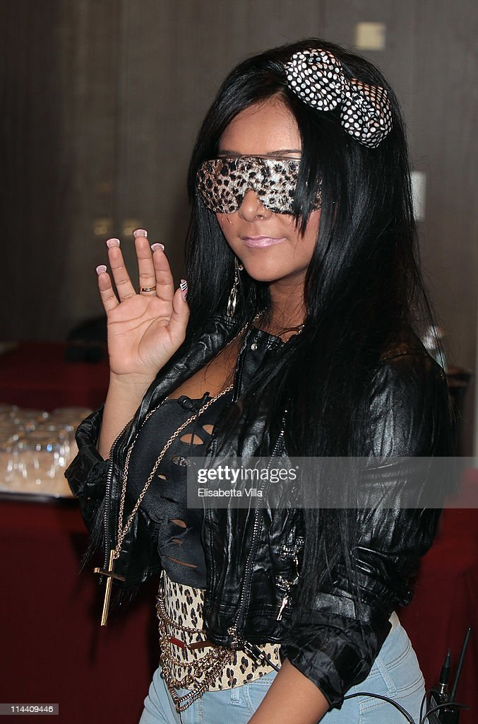 Nicole 'Snooki' Polizzi attends 'Jersey Shore' press conference at Hotel Brunelleschi on May 19 2011 in Florence Italy