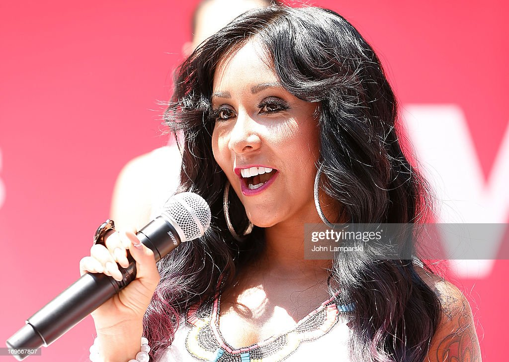 Nicole 'Snooki' Polizzi attends the 'Bridezillas' Cake Eating Competition & WE TV's 10th Anniversary Celebration at Madison Square Garden on May 30, 2013 in New York City.