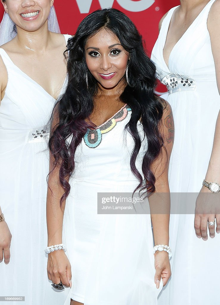 Nicole 'Snooki' Polizzi attends the 'Bridezillas' Cake Eating Competition & WE TV's 10th Anniversary Celebration>> at Madison Square Garden on May 30, 2013 in New York City.
