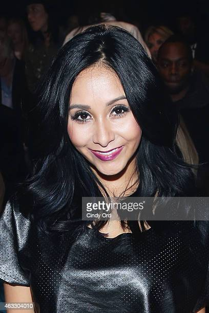 Nicole 'Snooki' Polizzi attends the Nike Levi's Kids fashion show during MercedesBenz Fashion Week Fall 2015 at The Salon at Lincoln Center on...