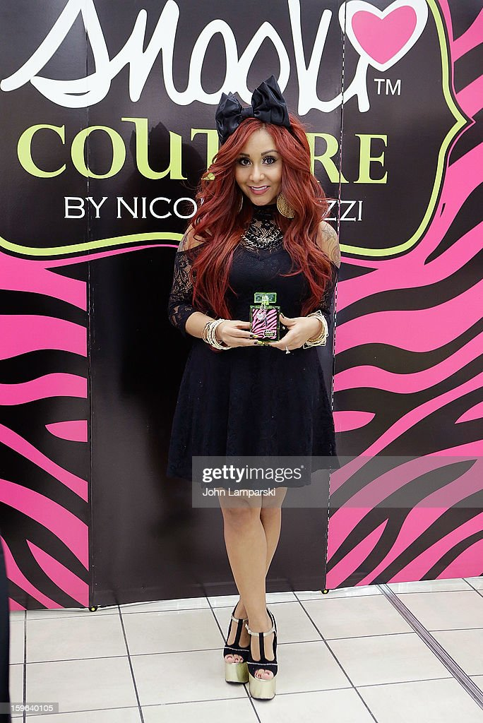 Nicole 'Snooki' Polizzi attends the Snooki Couture & Snooki Nails launch at Perfumania on January 17, 2013 in the Queens borough of New York City.
