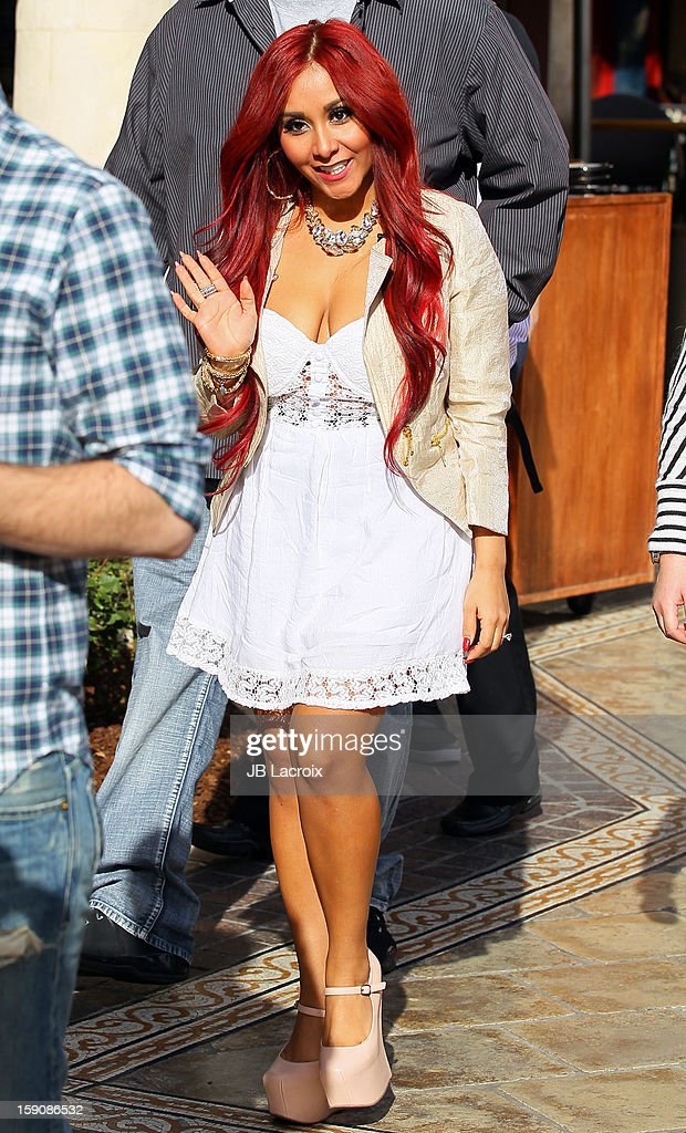 Nicole 'Snooki' Polizzi is seen at The Grove on January 7, 2013 in Los Angeles, California.