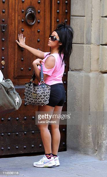 Nicole 'Snooki' Polizzi of the reality TV show 'Jersey Shore' is seen on May 16 2011 in Florence Italy