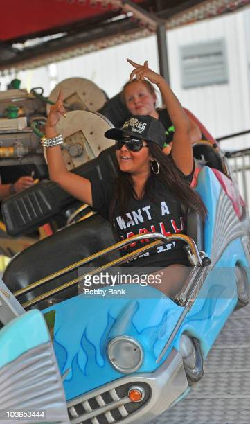 Nicole 'Snooki' Polizzi on location for 'Jersey Shore' on August 26 2010 in Seaside Heights New Jersey