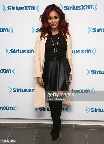 Nicole 'Snooki' Polizzi visits at SiriusXM Studios on November 10 2015 in New York City