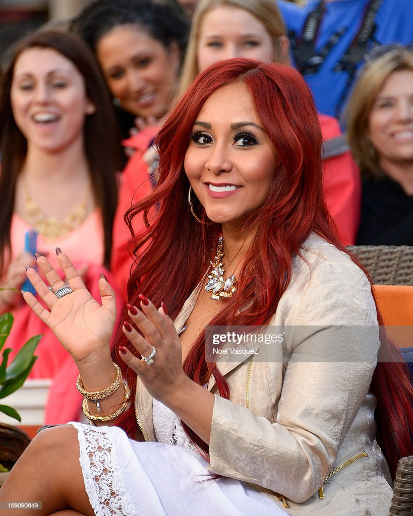 Nicole 'Snooki' Polizzi visits Extra at The Grove on January 7, 2013 in Los Angeles, California.