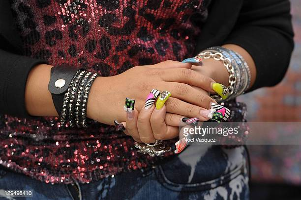 Nicole 'Snooki' Polizzi visits Extra at The Grove on October 17 2011 in Los Angeles California