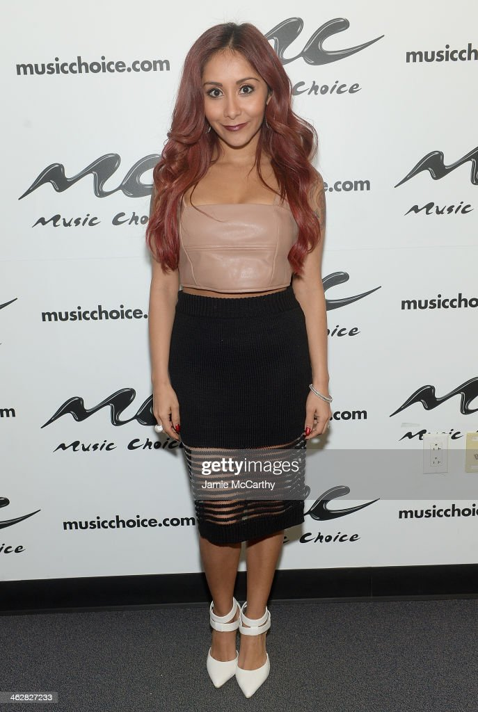 Nicole 'Snooki' Polizzi Visits Music Choice's 'You A' at Music Choice on January 15 2014 in New York City
