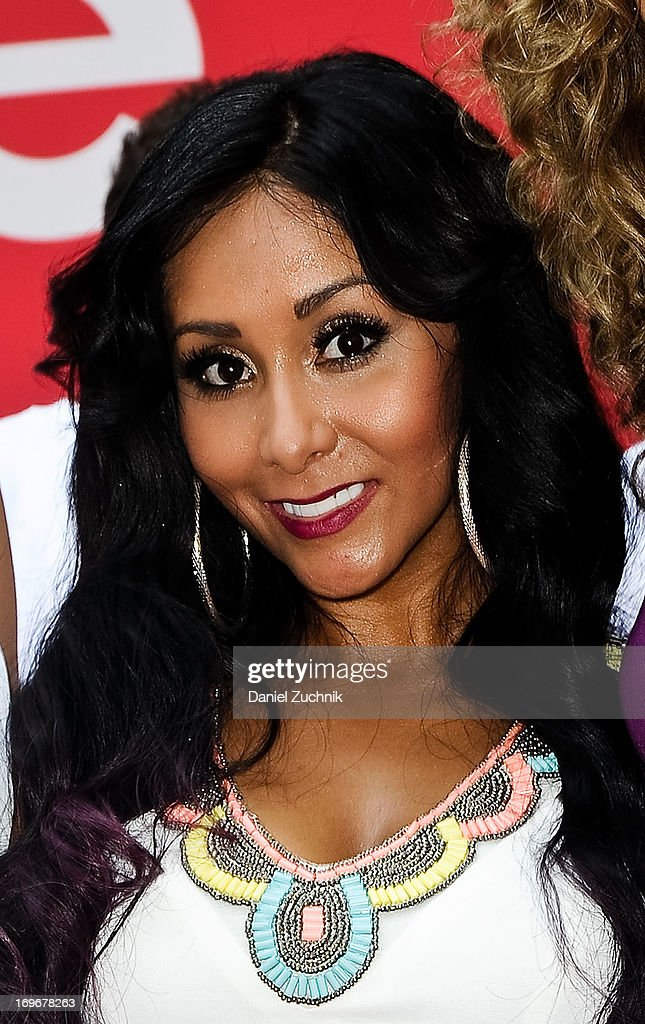 Nicole 'Snookie' Polizzi attends the 'Bridezillas' Cake Eating Competition & WE TV's 10th Anniversary Celebration at Madison Square Garden on May 30, 2013 in New York City.