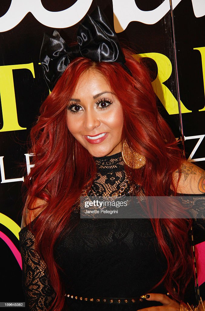 Nicole 'Snookie' Polizzi attends the Snooki Couture & Snooki Nails launch at Perfumania on January 17, 2013 in the Queens borough of New York City.
