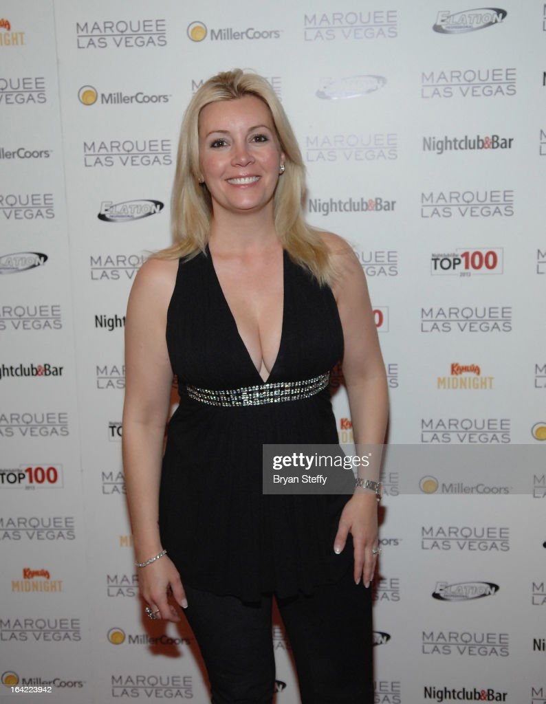 Nicole Taffer arrives at a Platinum party at the Marquee Nightclub at The Cosmopolitan of Las Vegas during the 28th annual Nightclub & Bar Convention and Trade Show on March 20, 2013 in Las Vegas, Nevada.
