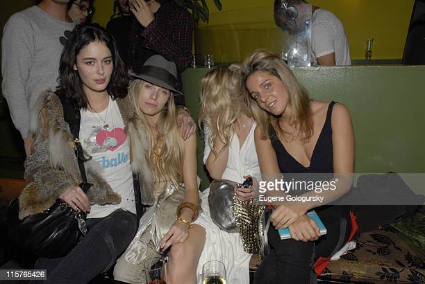 Nicole Theodora Richards Alexandra Richards and guest