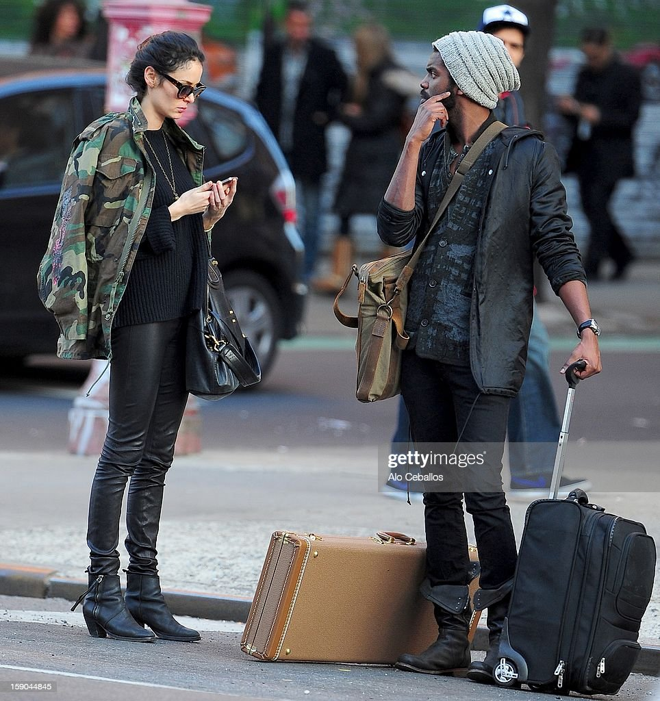 Nicole Trunfio and Gary Clark Jr are seen in the Lower East Side on January 6, 2013 in New York City.