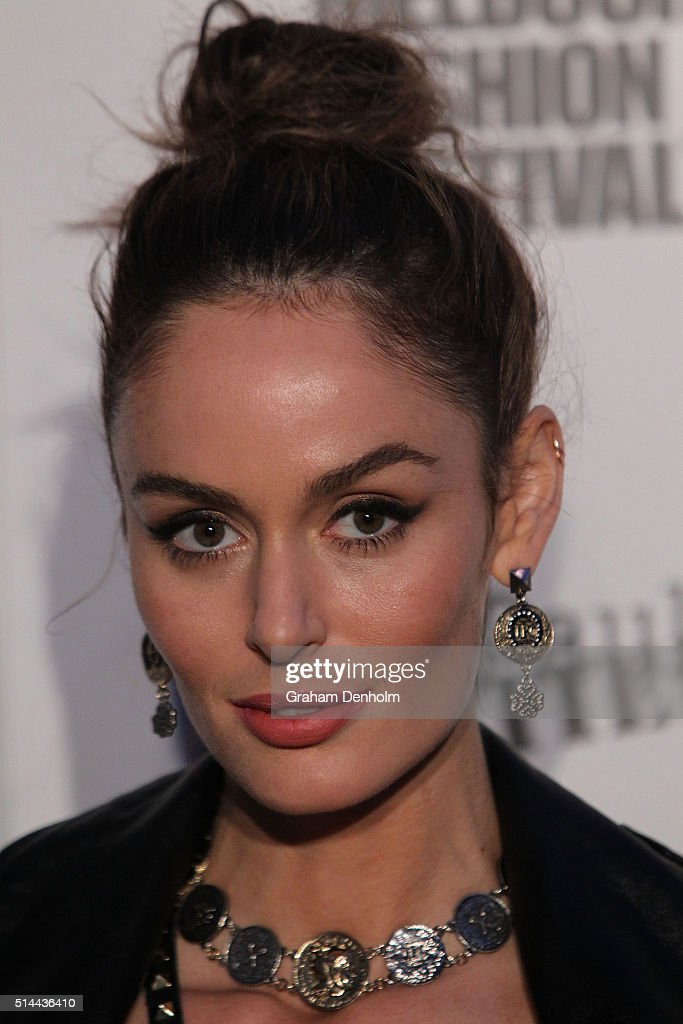 Nicole Trunfio arrives ahead of the Jean Paul Gaultier x Target Launch during Melbourne Fashion Festival on March 9, 2016 in Melbourne, Australia.