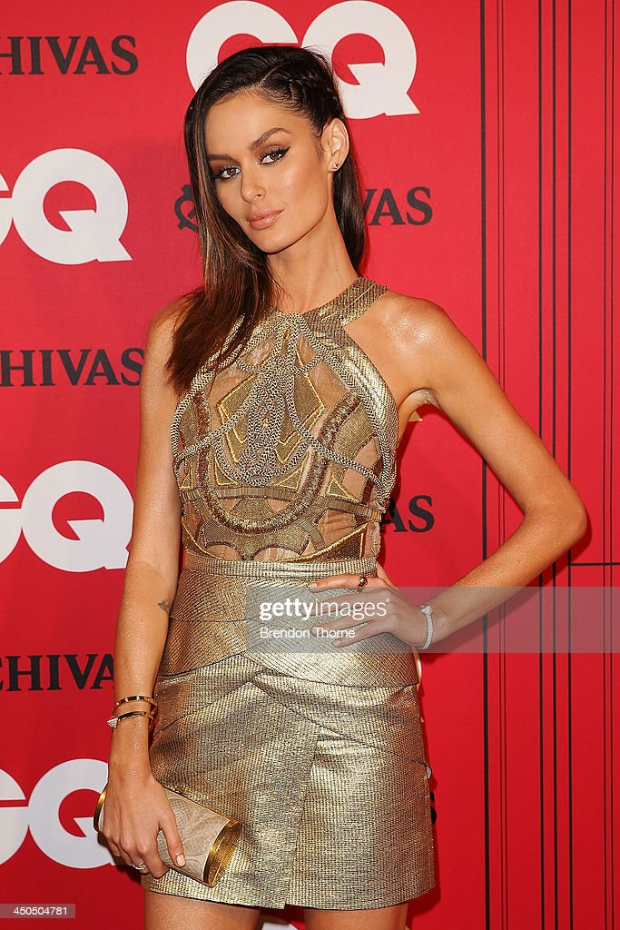 <a gi-track='captionPersonalityLinkClicked' href=/galleries/search?phrase=Nicole+Trunfio&family=editorial&specificpeople=3006654 ng-click='$event.stopPropagation()'>Nicole Trunfio</a> arrives at the GQ Men of the Year awards at the Ivy Ballroom on November 19, 2013 in Sydney, Australia.