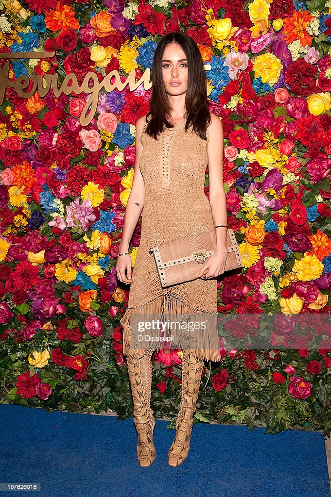 Nicole Trunfio attends Ferragamo Celebrates The Launch Of L'Icona Highlighting The 35th Anniversary Of Vara at 530 West 27th Street on April 30, 2013 in New York City.
