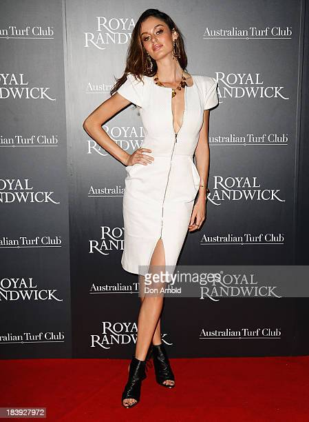 Nicole Trunfio attends the Gala Launch event to celebrate the new Australian Turf Club Grandstand at Royal Randwick Racecourse on October 10 2013 in...