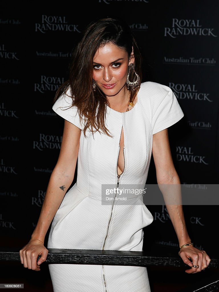 <a gi-track='captionPersonalityLinkClicked' href=/galleries/search?phrase=Nicole+Trunfio&family=editorial&specificpeople=3006654 ng-click='$event.stopPropagation()'>Nicole Trunfio</a> attends the Gala Launch event to celebrate the new Australian Turf Club Grandstand at Royal Randwick Racecourse on October 10, 2013 in Sydney, Australia.