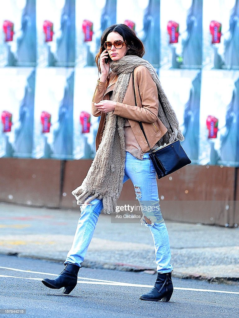 Nicole Trunfio is seen in the East Village at Streets of Manhattan on December 4, 2012 in New York City.