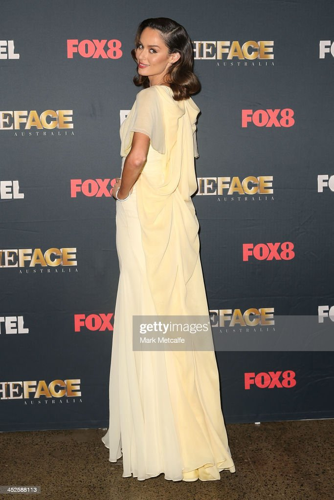 Nicole Trunfio poses during a photo call for Australian TV show, 'The Face of Australia' at Carriage Works on November 30, 2013 in Sydney, Australia.
